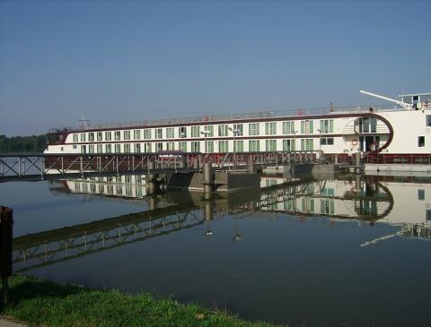Die Anlegestelle für Kreuzfahrtschiffe